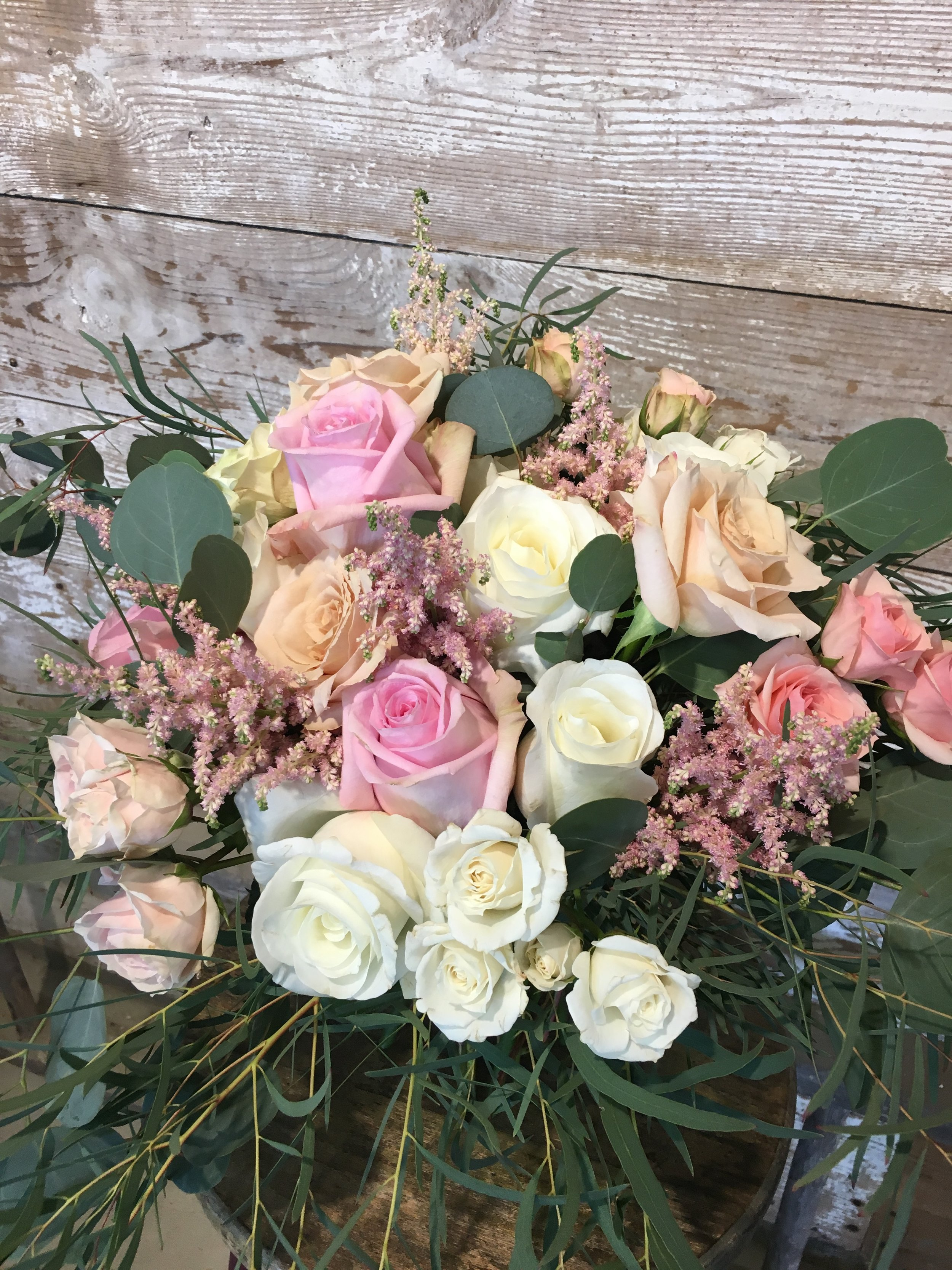 The classic blush & white bouquet with a vintage twist! *this bouquet was much larger in real life than it appears in photos!