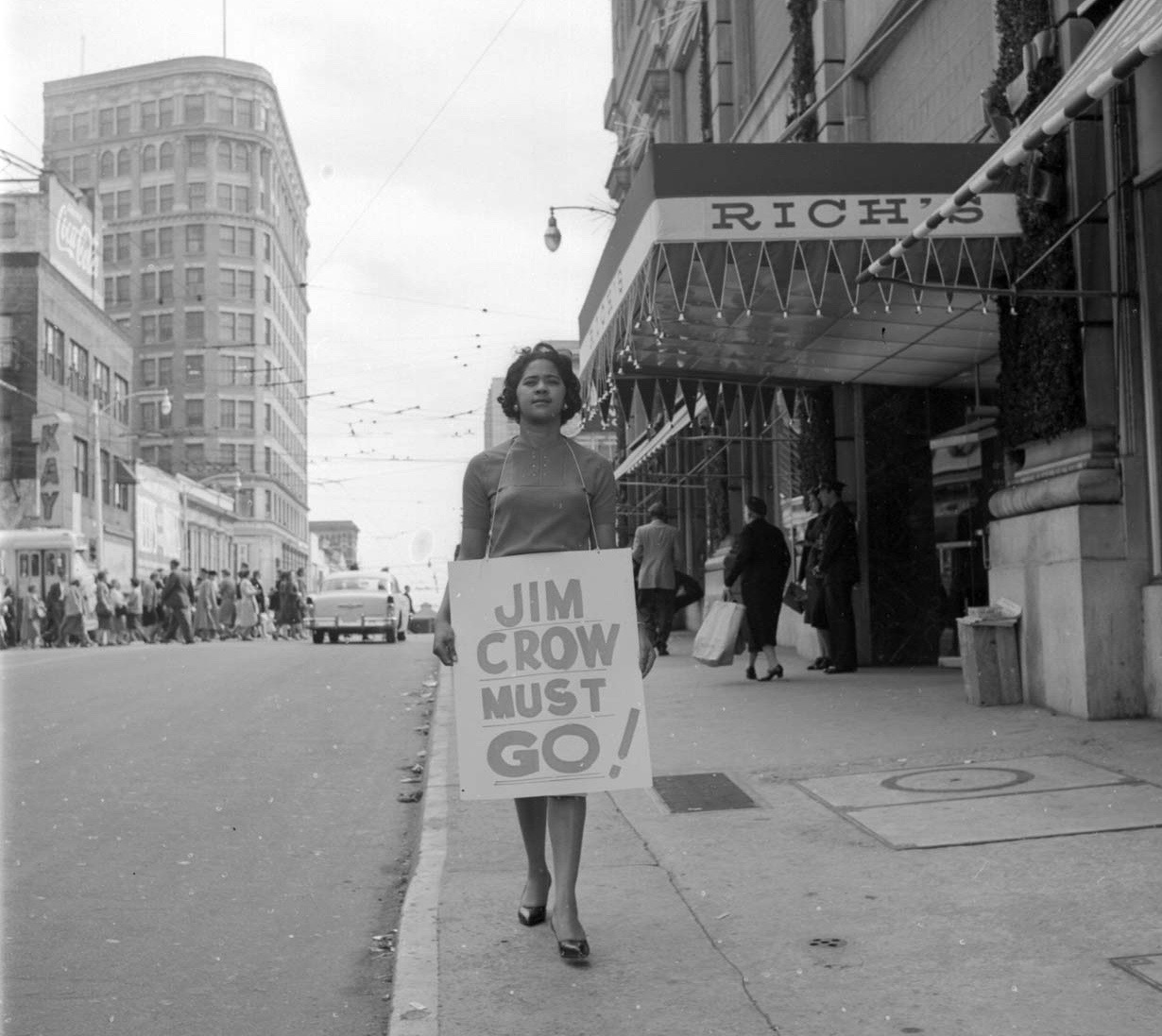 PAGE 43: INSPIRED LIKE OTHER STUDENT ACTIVISTS ATTENDING HISTORICALLY BLACK COLLEGES ACROSS THE UNITED STATES, ATLANTA UNIVERSITY CENTER STUDENTS MOBILIZED TO LAUNCH A SERIES OF DEMONSTRATIONS TO END LEGALIZED SEGREGATION IN PUBLIC FACILITIES (PERMISSION OF THE HENDON HOME MUSEUM).