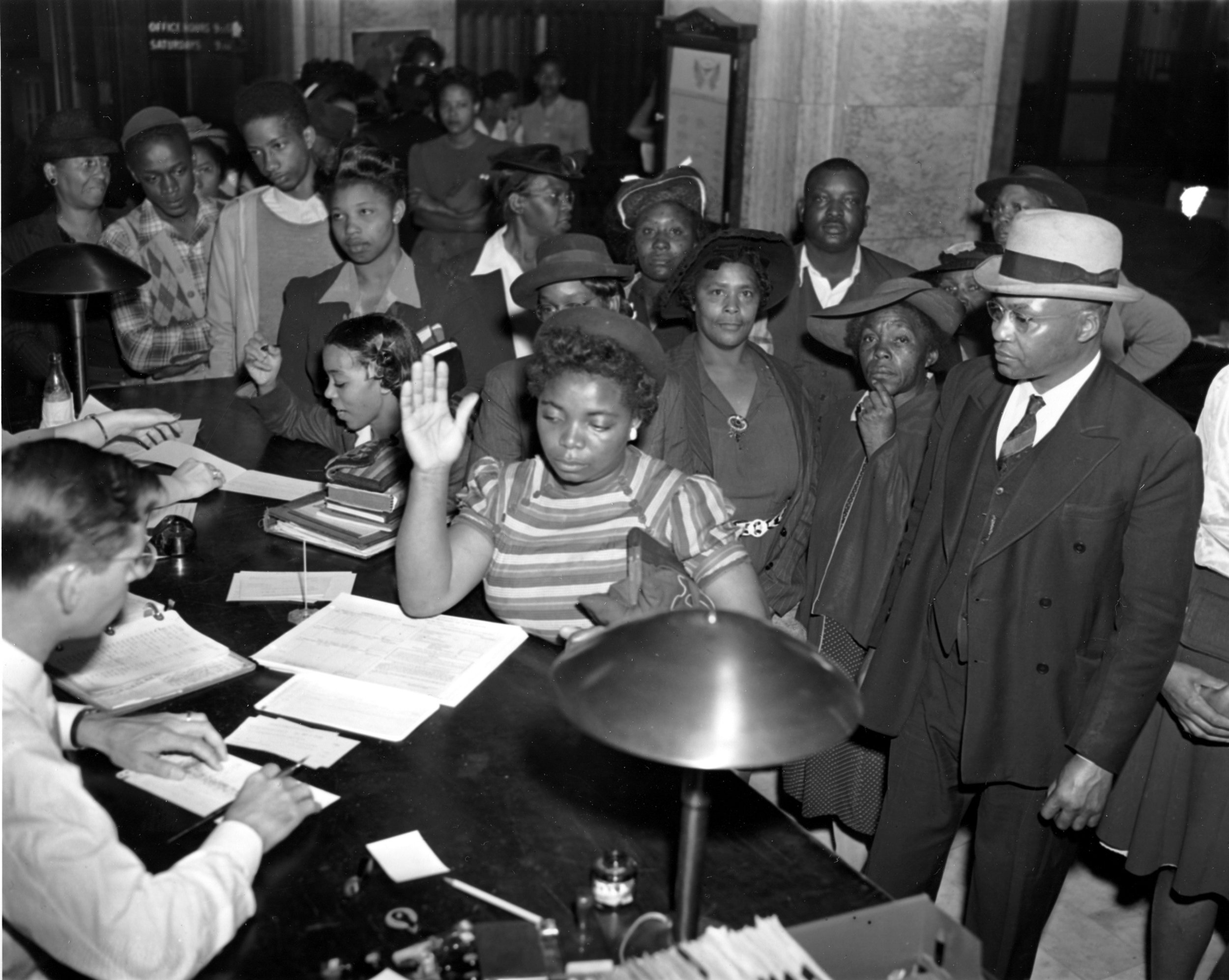 """PAGE 9: A WATERSHED MOMENT IN THE LONG STRUGGLE FOR JUSTICE AND EQUALITY WAS THE US SUPREME COURT DECISION IN SMITH V. ALLWRIGHT, DECLARING IT UNCONSTITUTIONAL TO DENY A CITIZEN, REGARDLESS OF RACE, FROM PARTICIPATING IN PRIMARY ELECTIONS, OFTEN REFERRED TO AS """"WHITE PRIMARIES"""" (PERMISSION OF THE ASSOCIATED PRESS)."""