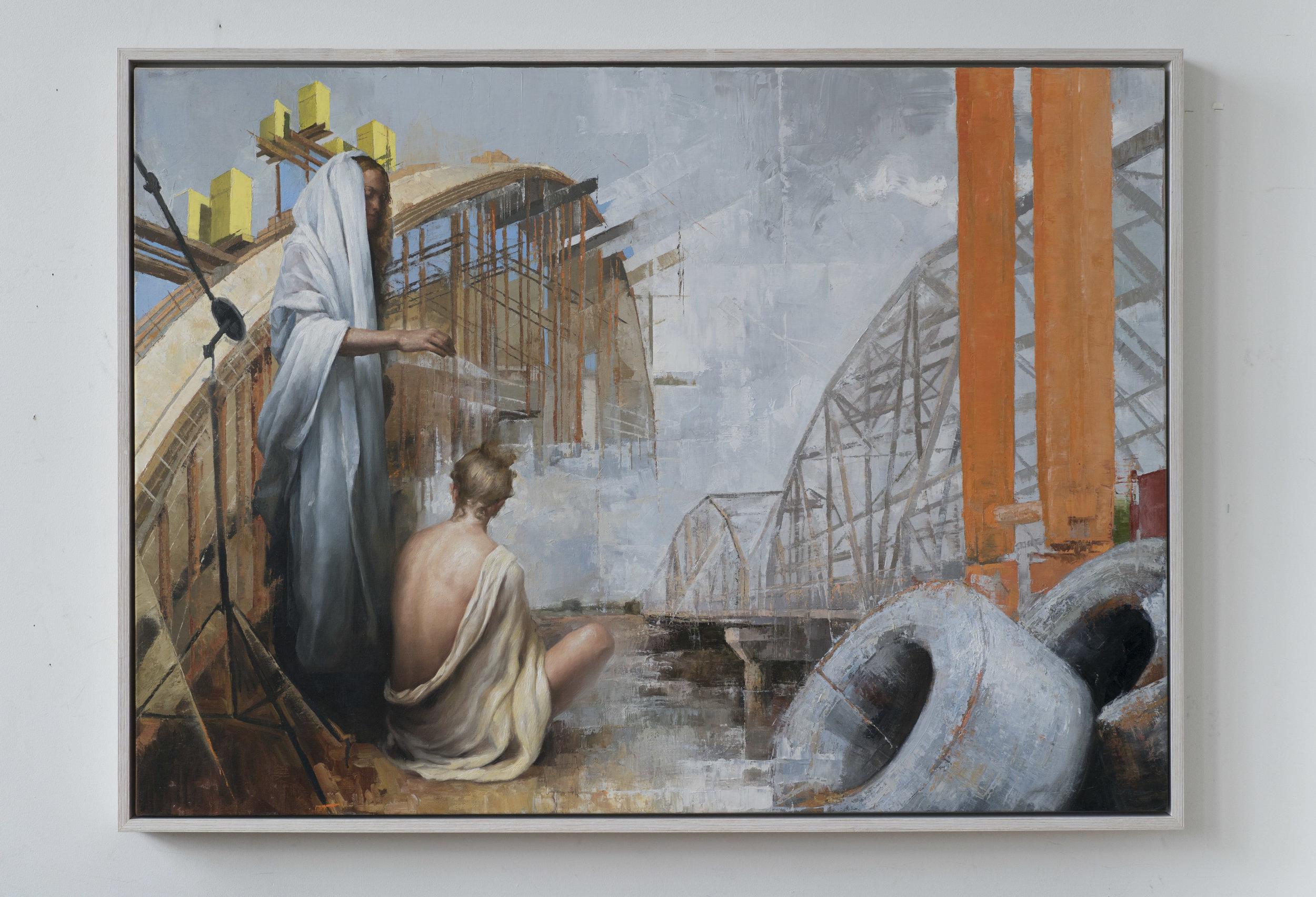 Maria Kreyn - even here - framed on wall - 60 x 40 inches .jpg