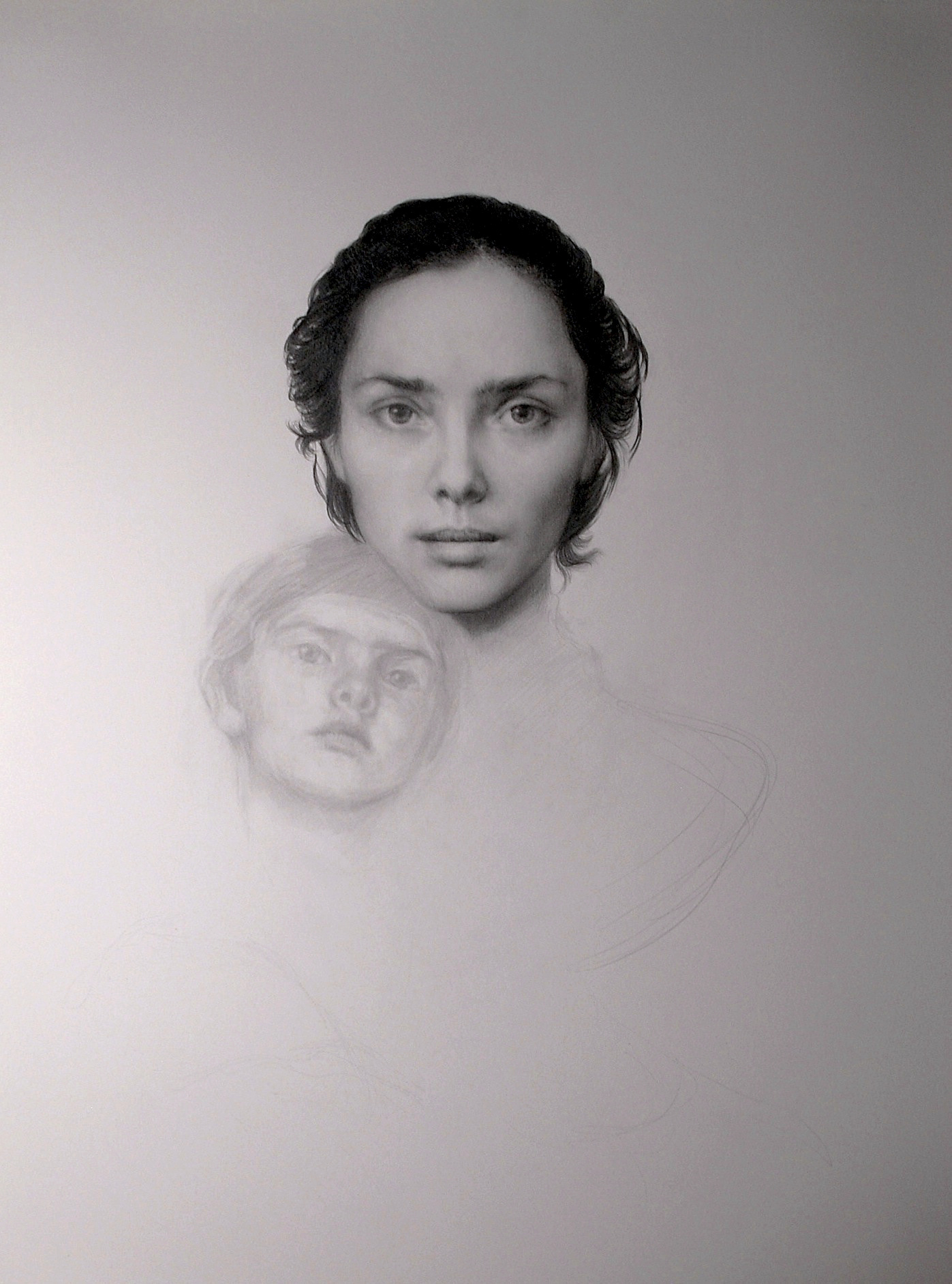 maria kreyn -  mother and child. graphite .JPG