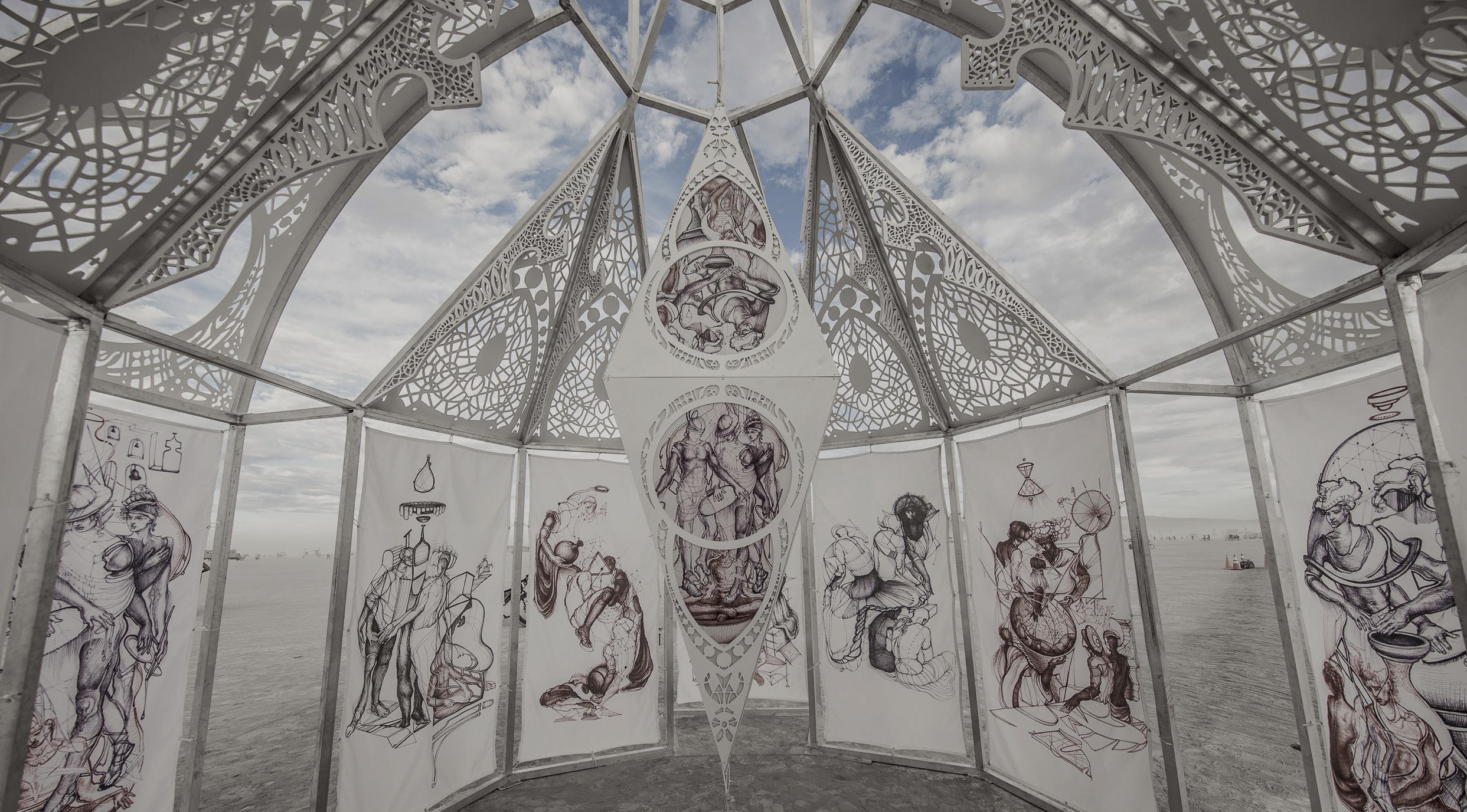 chapel of dancing shadows - an immersive installation