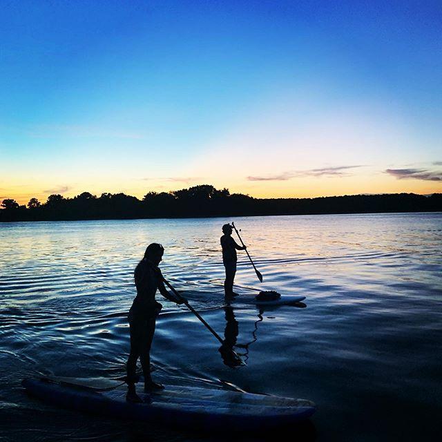 Pretty nice evening paddle. #highpointsadventure #suplife #sunset #johnsisland #stonoriver