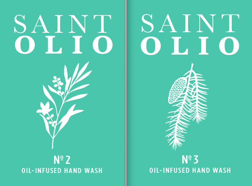 Saint Olio label designs