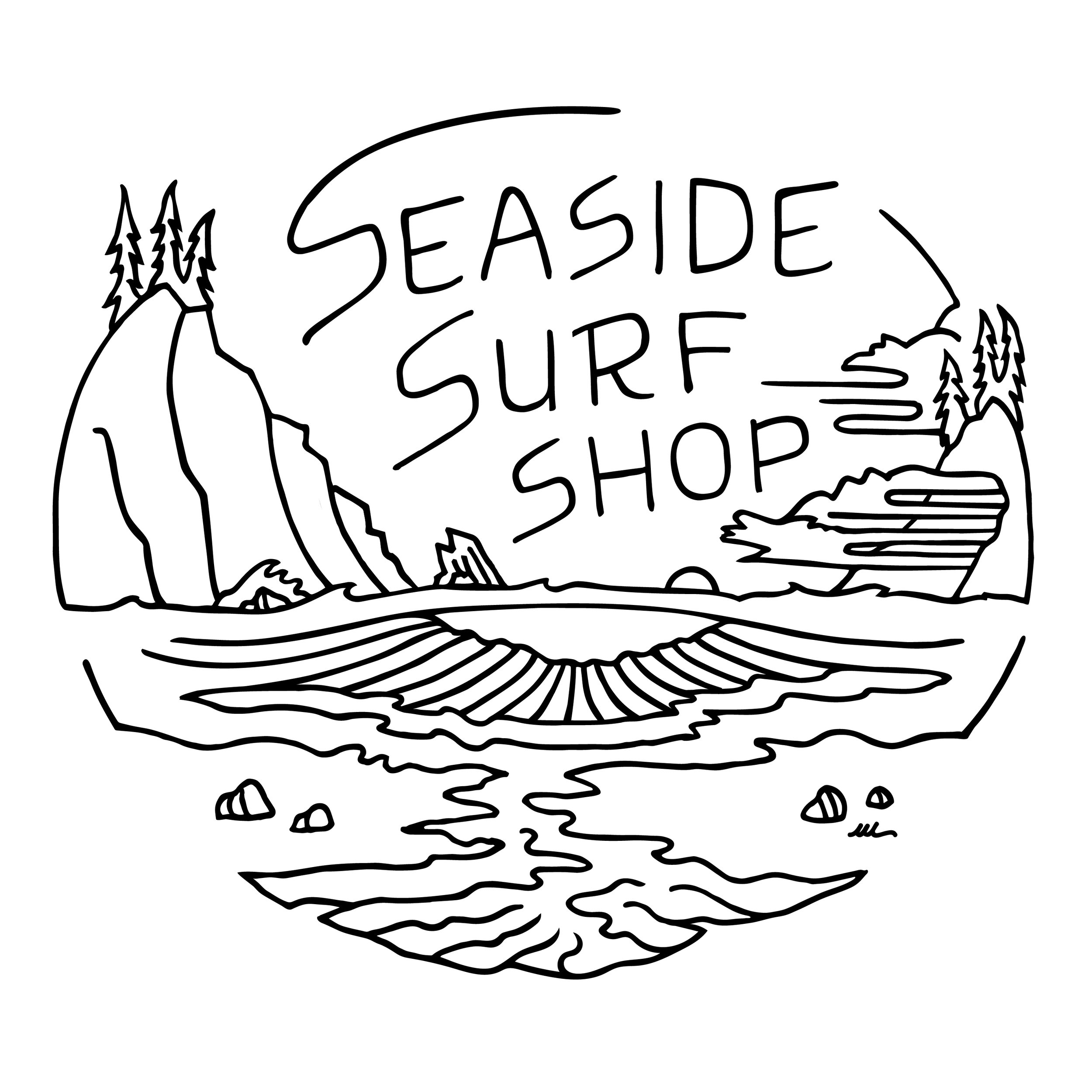 Seaside Surf t-shirt design