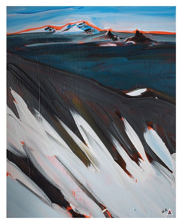 "Art by David Wachs Acrylic on Canvas Original - 24 X 20"" Archival Prints - 8.5 x 11"" & 11 x 14"" This is the one snd only place to get Dave's incredible work in print form! Click on link in bio to purchase.  #davewachs #mountainart #backcountry #art #painting #bendoregon #bendartist #snowboarding #skiing #backcountryskiing #splitboarding #exploretheunknown #mtjefferson #centralcascades #cascademountains"
