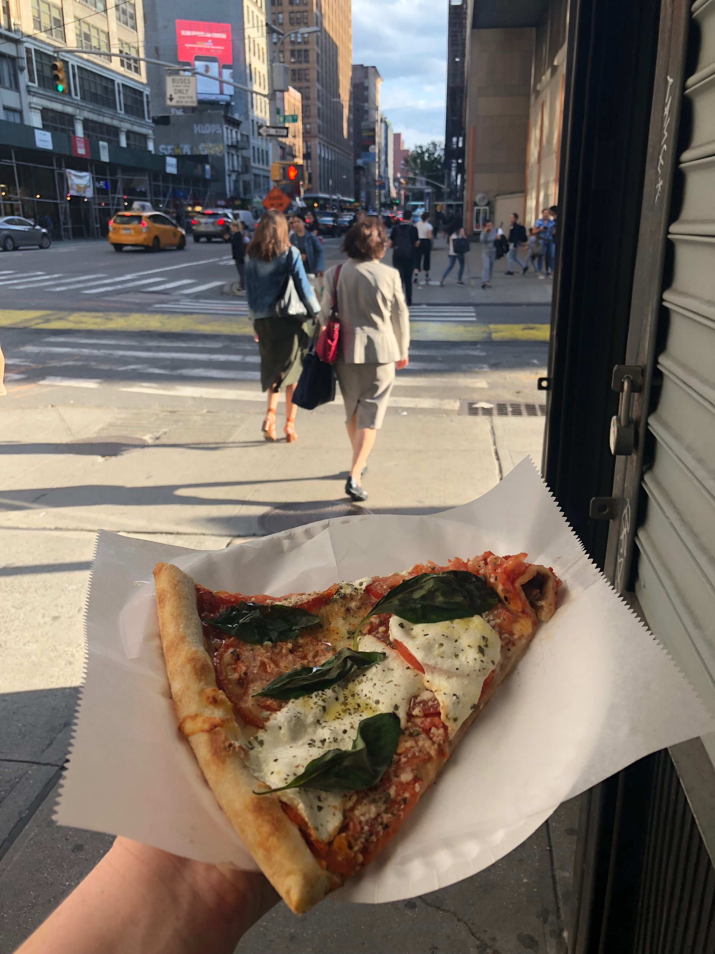Pizza slices in NYC