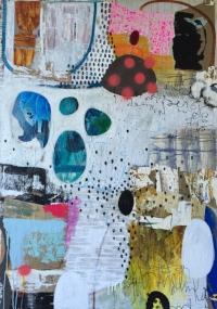 """Loquacious #2"" - 60"" x 42"" - Mixed Media on Canvas"