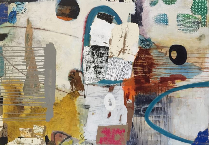 """Loquacious #1"" - 48 x 60 - mixed media on canvas - SOLD"