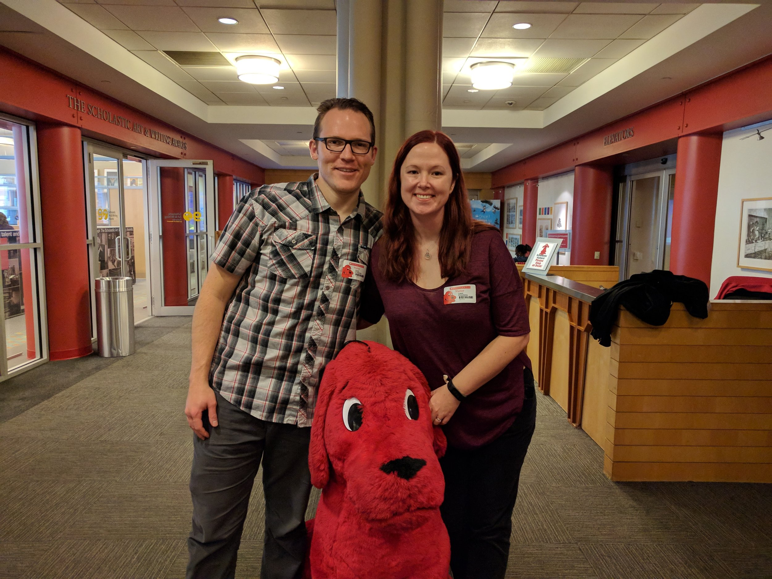 Clifford is not part of our advance team but he was nice enough to take a photo anyway.