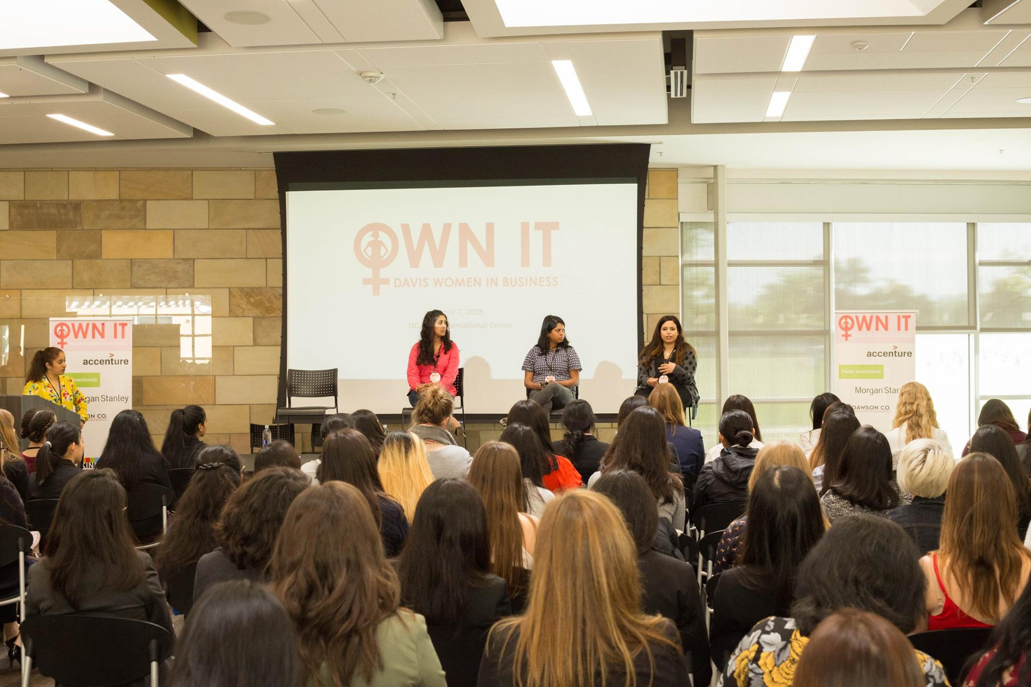 OUR HISTORY - OWN IT was started by Georgetown University students, Helen Brosnan and Kendall Ciesemier, in 2013 as a means to bring awareness to the lack of women in leadership positions across various professional fields. The inaugural Own It summit was held at GU in April of 2014, and brought over 40 speakers and 400 attendees together for a day filled with motivation and female empowerment. In March of 2015, both Georgetown University and Boston College held summits with over 800 and 300 attendees, respectively. The success of the summit and its ambition to empower young women towards leadership roles has made its impact across the nation to numerous universities and the University of California, Davis.