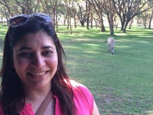 Lake Naivasha – Himanshi & a Zebra