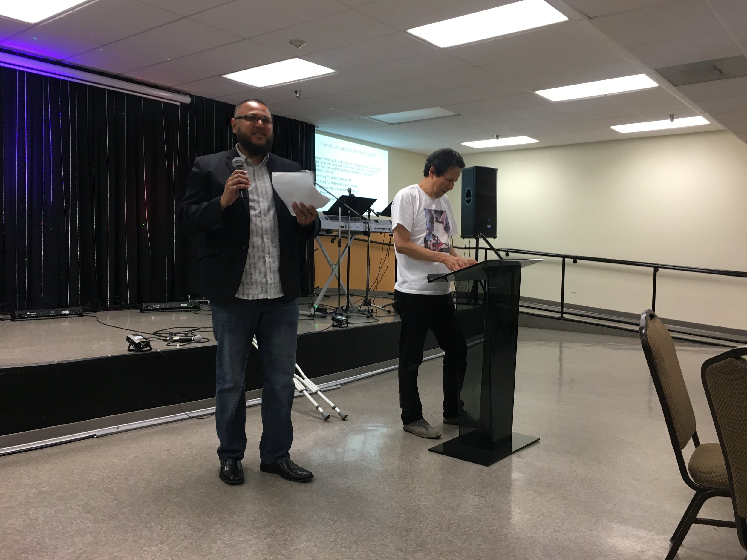 Dr. Robert Chao Romero and Michael Mata discuss training.