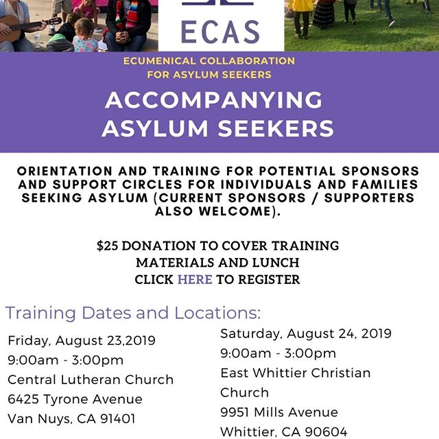 Train to Accompany Asylum Seekers!  https://www.matthew25socal.org/accompany