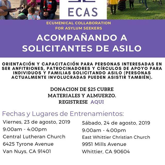 ¡Entrena para Acompaña a los Solicitantes de Asilo! https://www.matthew25socal.org/accompany