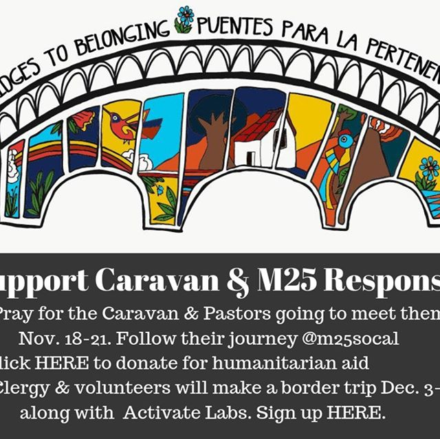 Support the migrants and volunteers traveling to the border and visit https://www.matthew25socal.org/borderaid