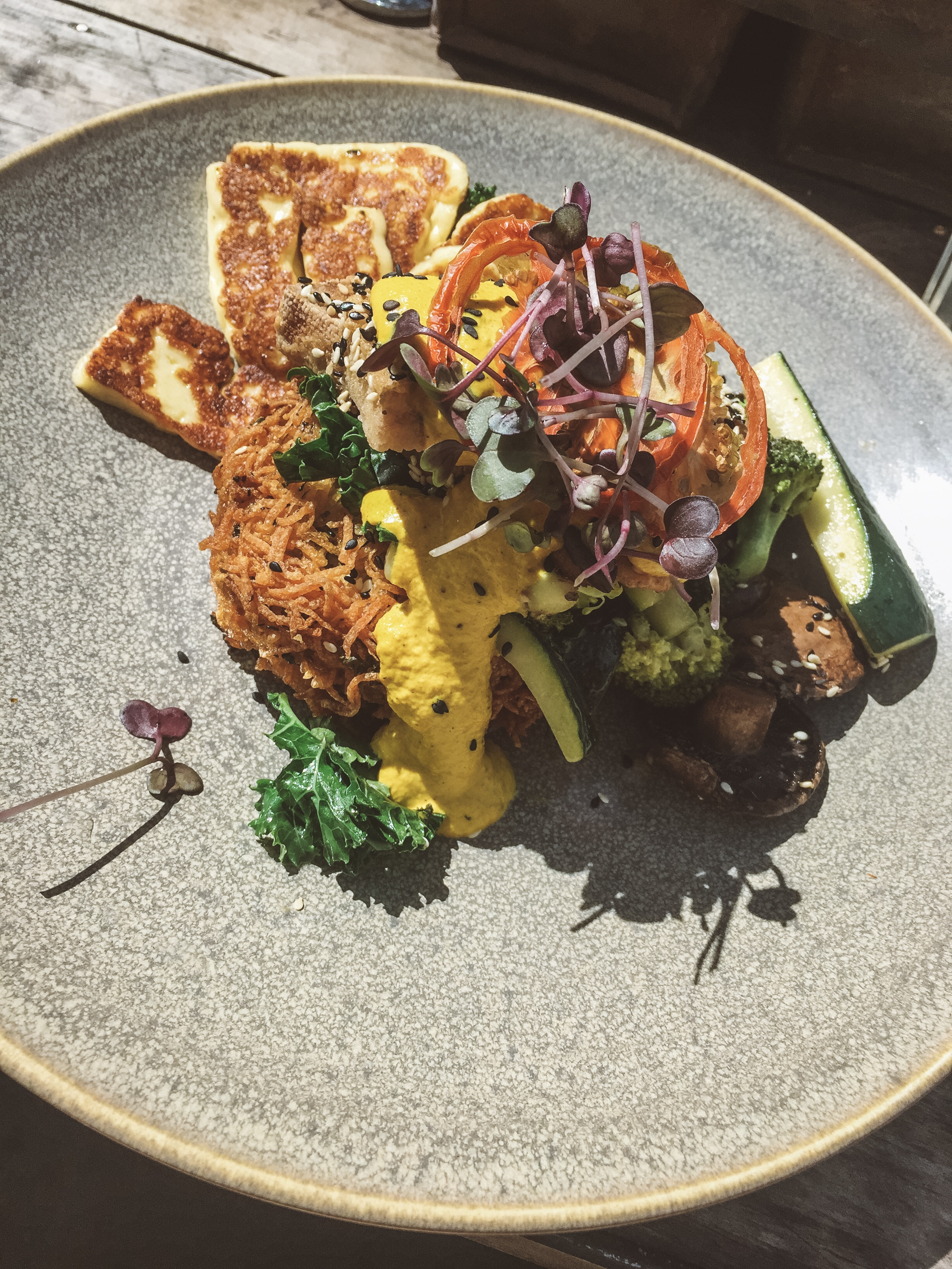 Vegan benny delight @ Bespoke, Queenstown