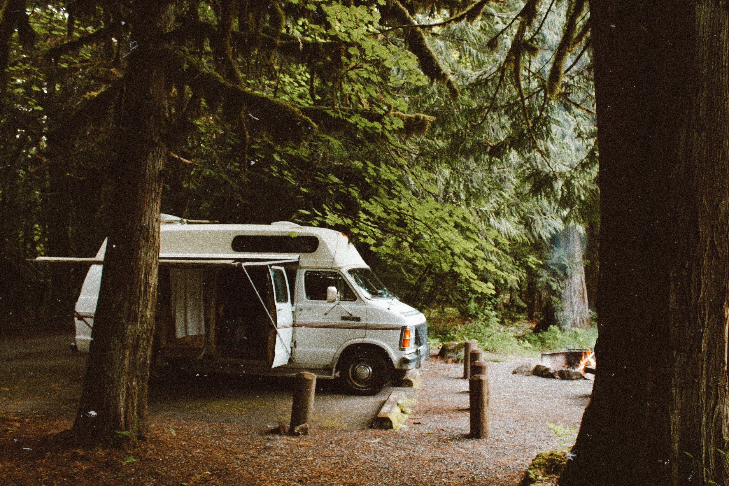 What is more visually (and soul) satisfying than a campfire and the green of the Pacific North West!?