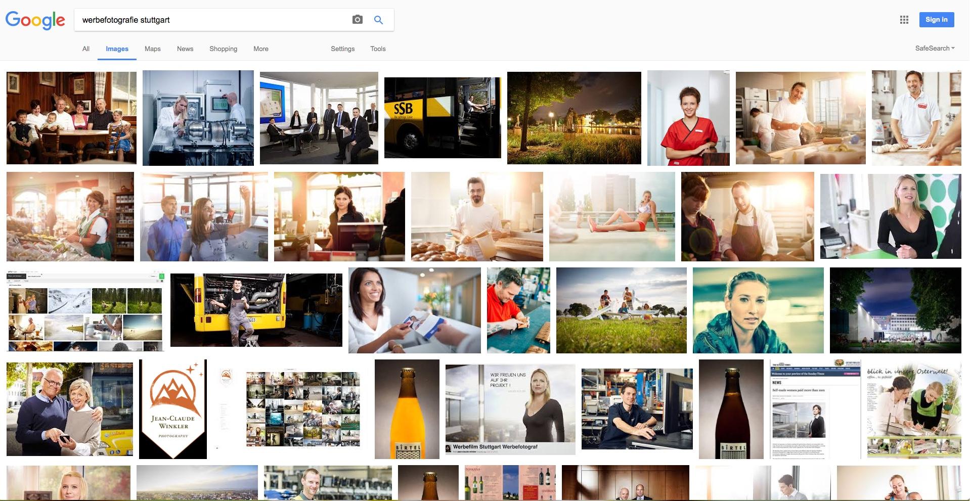 Werbefotografie Stuttgart - Wie Bildsuche Google ?
