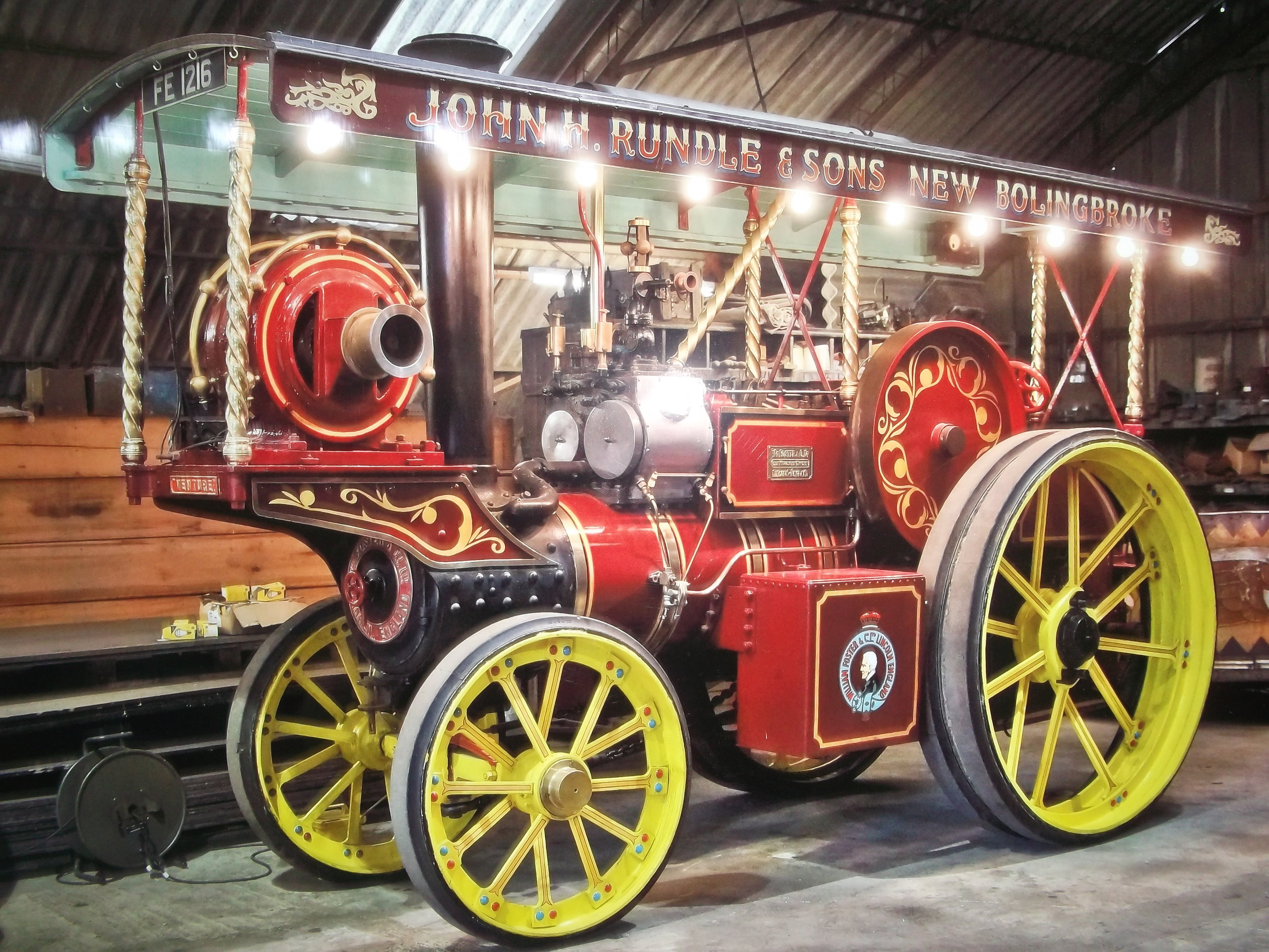 Steam Engine owned by Rundles of New Bollingbroke, lincs