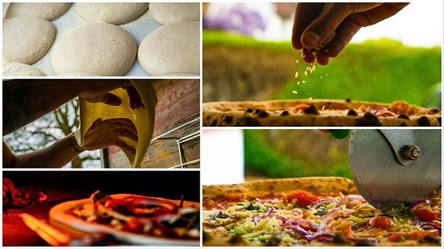 We #love a good #vegetarian #pizza. ... especially when it's made by @thedoughshack !  New #collage images coming your way!