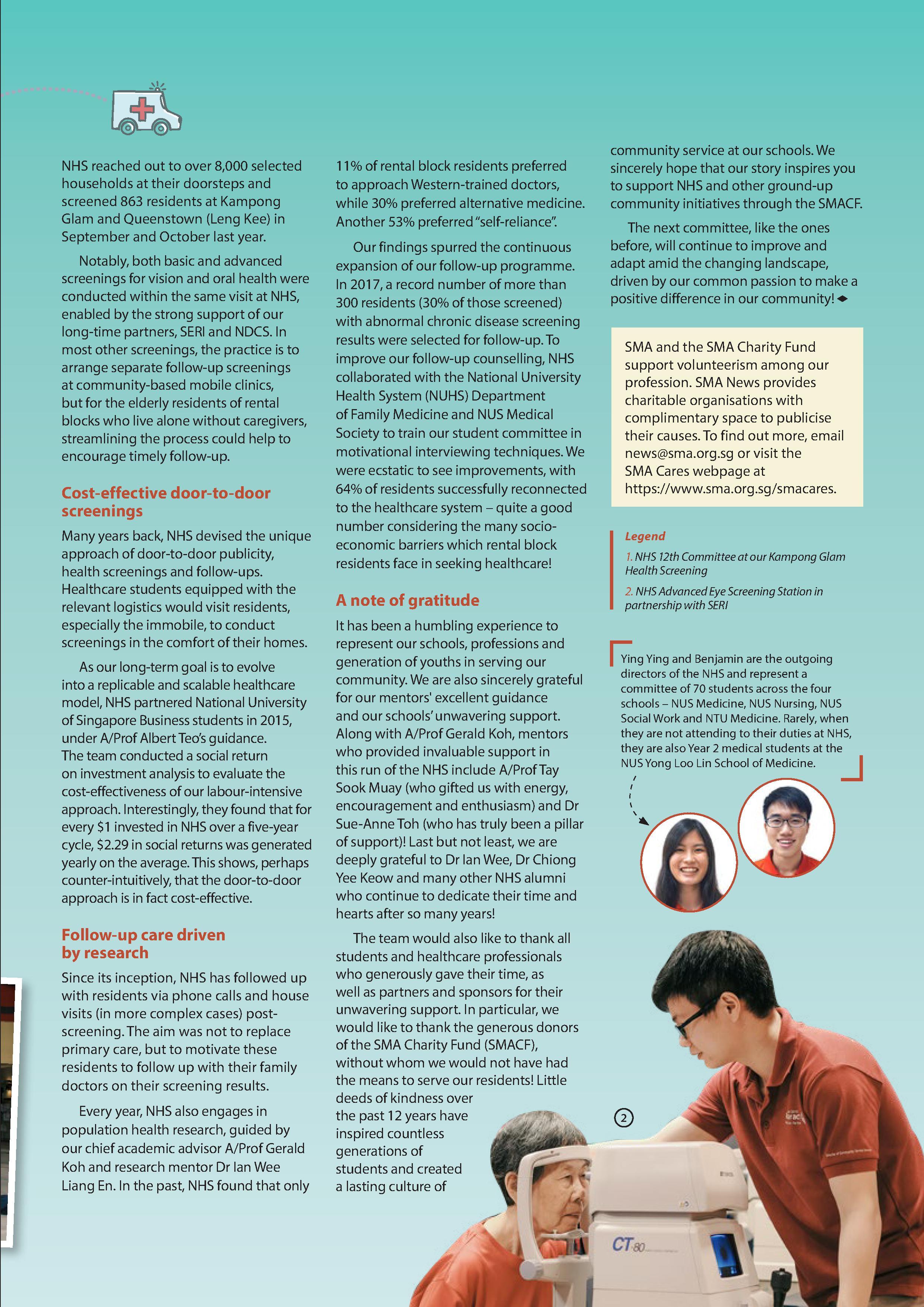 Singapore Medical Association newsletter FEBRUARY 2019