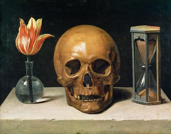 Philippe de Champaigne, Still life with a skull (Vanitè), 1660s