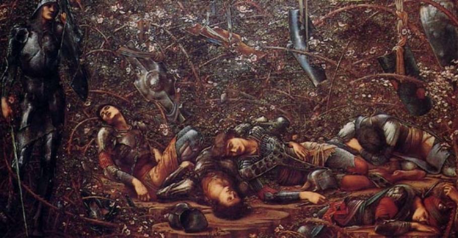 Edward Burne-Jones,  The Briar Wood,  1900