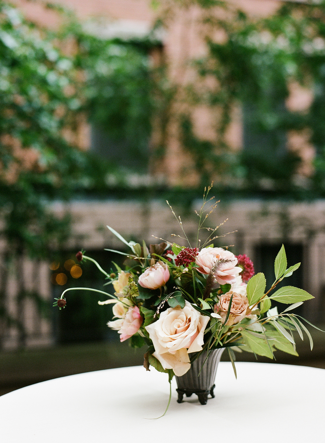 Old World NYC Wedding at the Highline Hotel - Flowers by Denise Fasanello Flowers - Photo by Heather Waraska 13.jpg