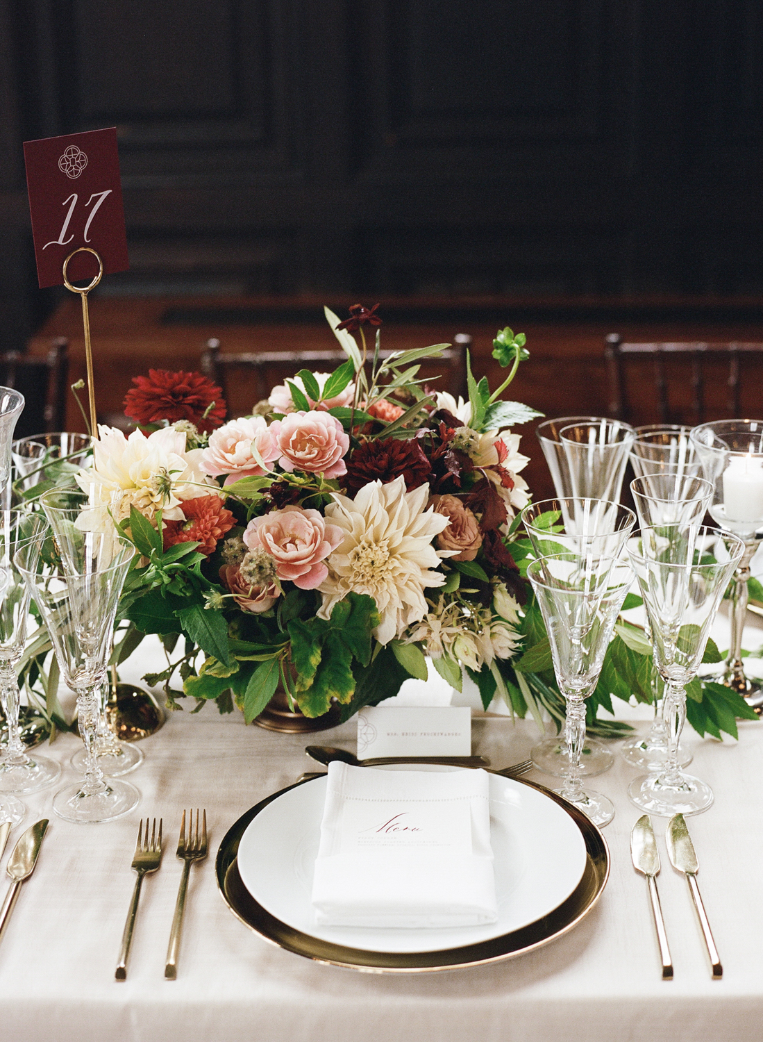 Old World NYC Wedding at the Highline Hotel - Flowers by Denise Fasanello Flowers - Photo by Heather Waraska 18.jpg