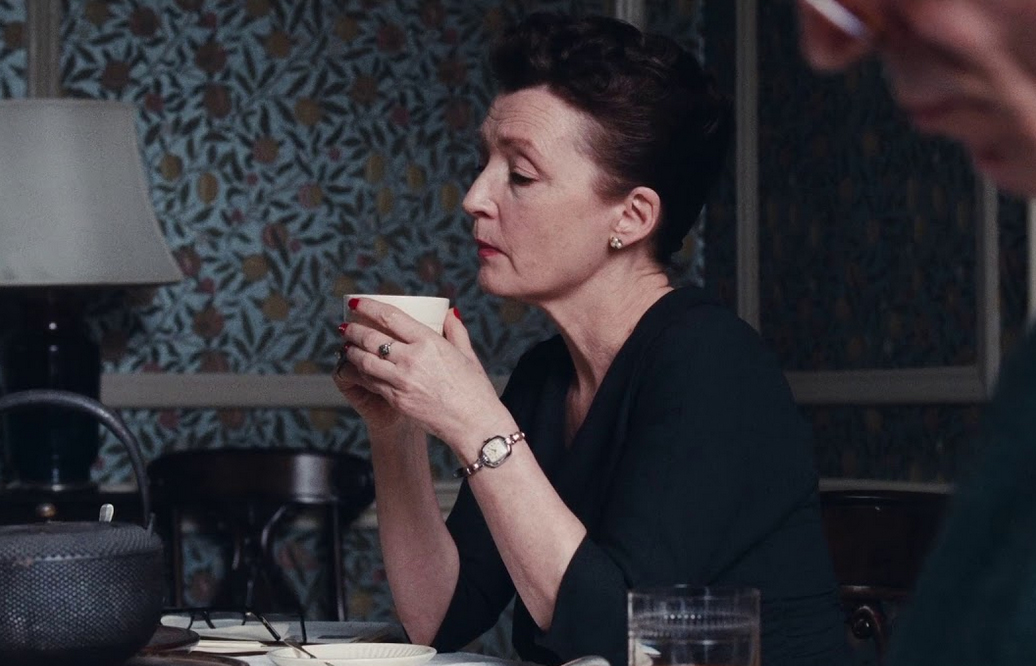 """Don't pick a fight with me, you won't come out alive. I'll go right through and you'll end up on the floor."" Best scathing one liner by the formidable Lesley Manville"