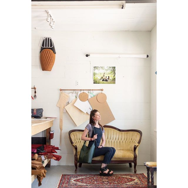 It was such an honor to be featured in the September issue of @mainewomenmagazine! Check them out to read the article and see more of the photo shoot I did with @wildorchardstudios. 🖤 | #mavenseats #mavenleather . . . . . #leatherworker #seatmaker #customseat #motorcycleseat #leatherseat #customupholstery #bikebuild #autotrimmer #thehogring