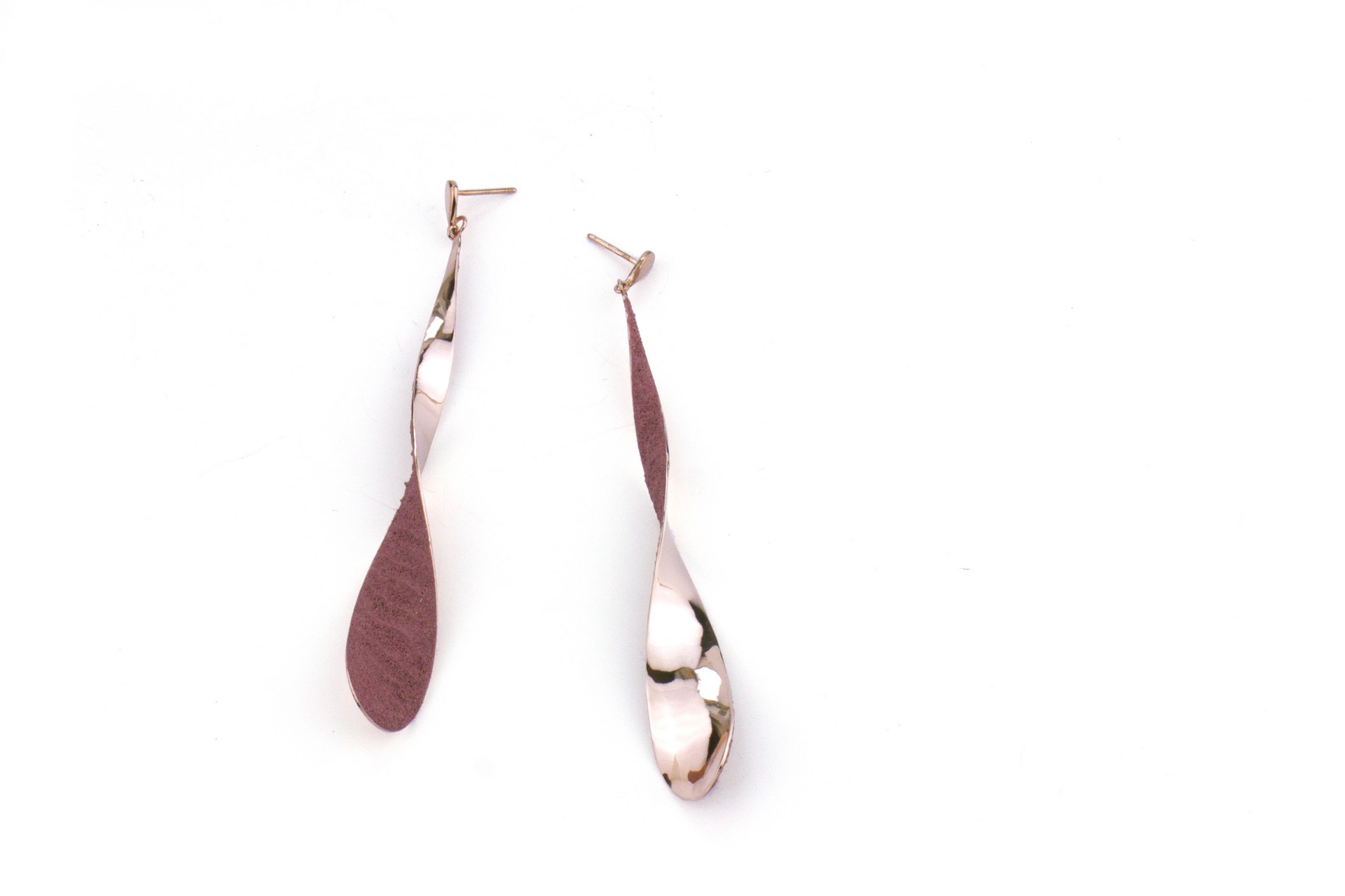 TINKLE earrings - rose. Materials: silver, special coating, structure medium.