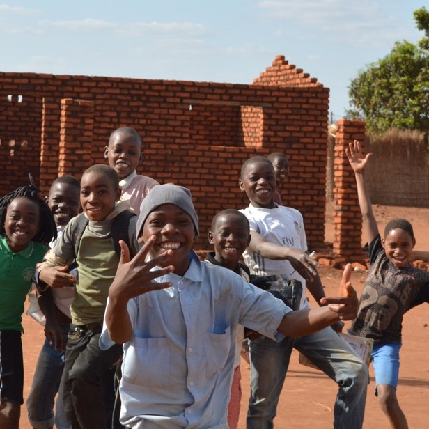 A photograph of a group of Children in Mandimba, Mozambique