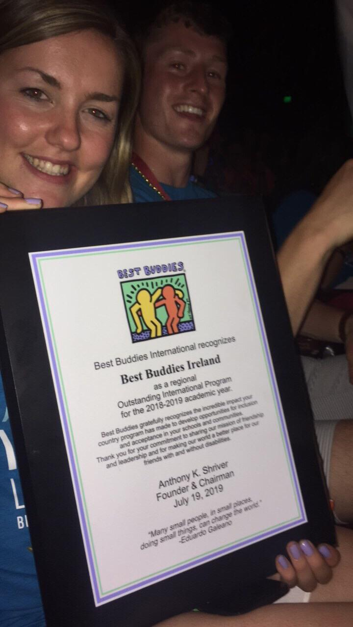 Pictured are Lucy Dockery and Dylan Somers, Best Buddies NUIG College Programme