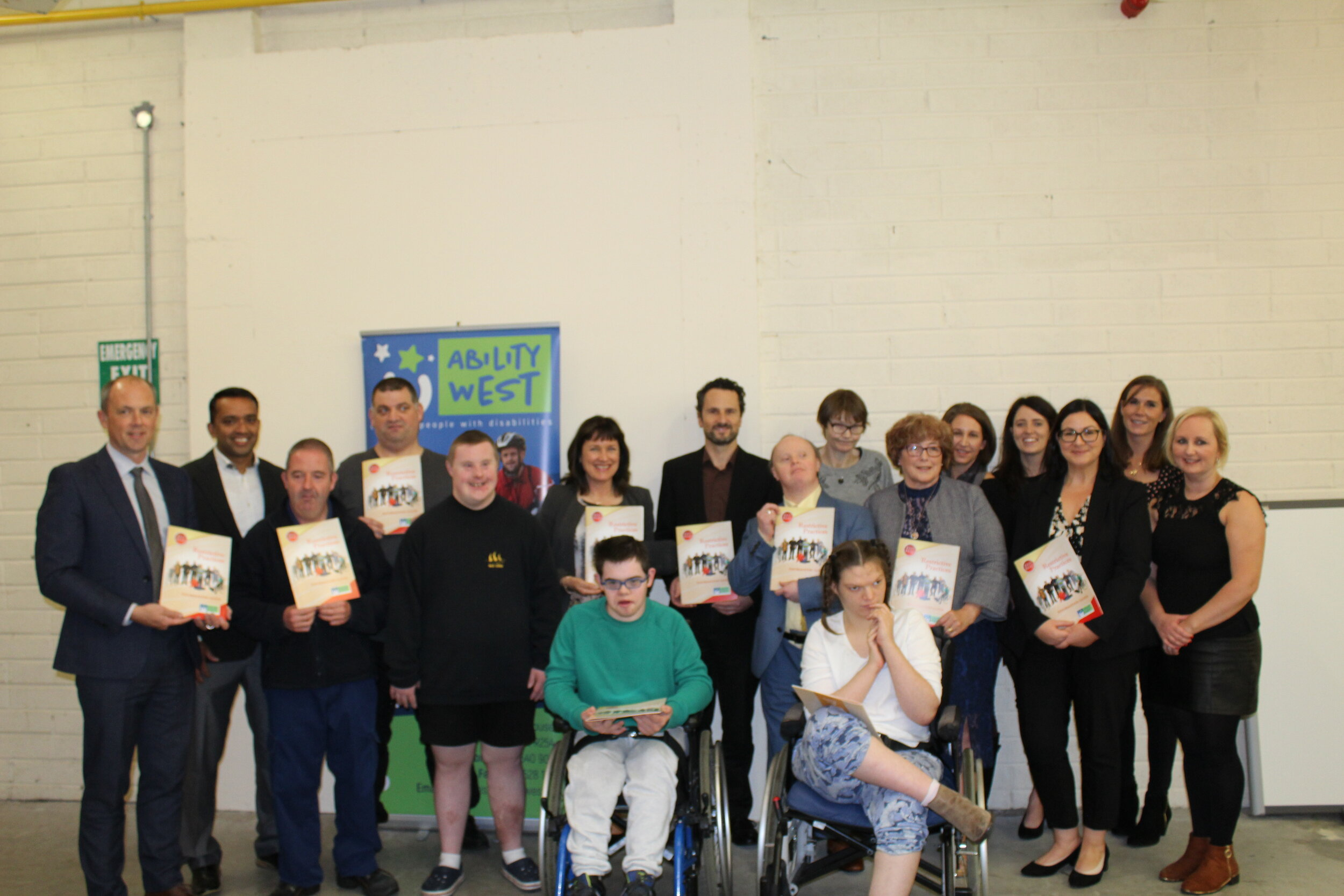 Service Users, Staff and Chairperson of Ability West