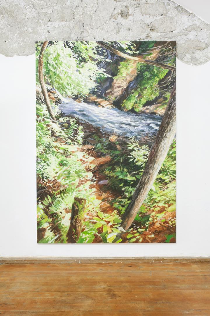 Maglio , 2018, acrilico su tela, 160 x 110 cm