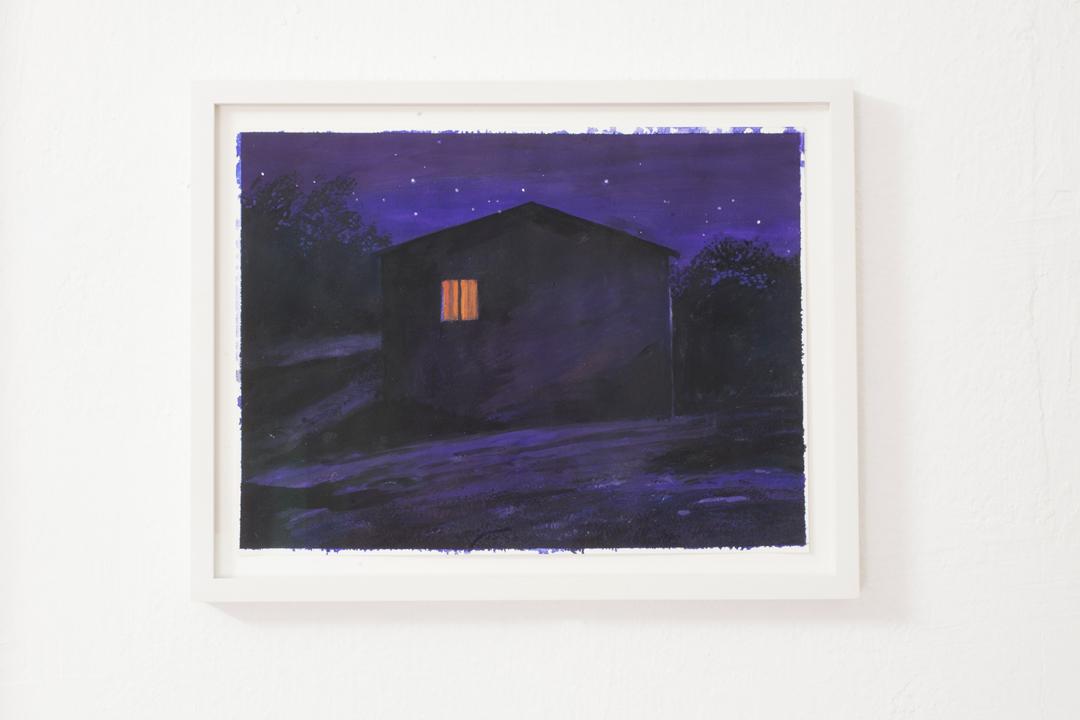 Briv , 2018, gouache su carta, 24 x 32 cm