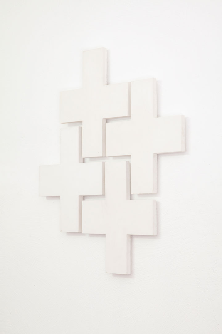 Wasted II  (2019), gesso, 94 x 83 x 2.5 cm