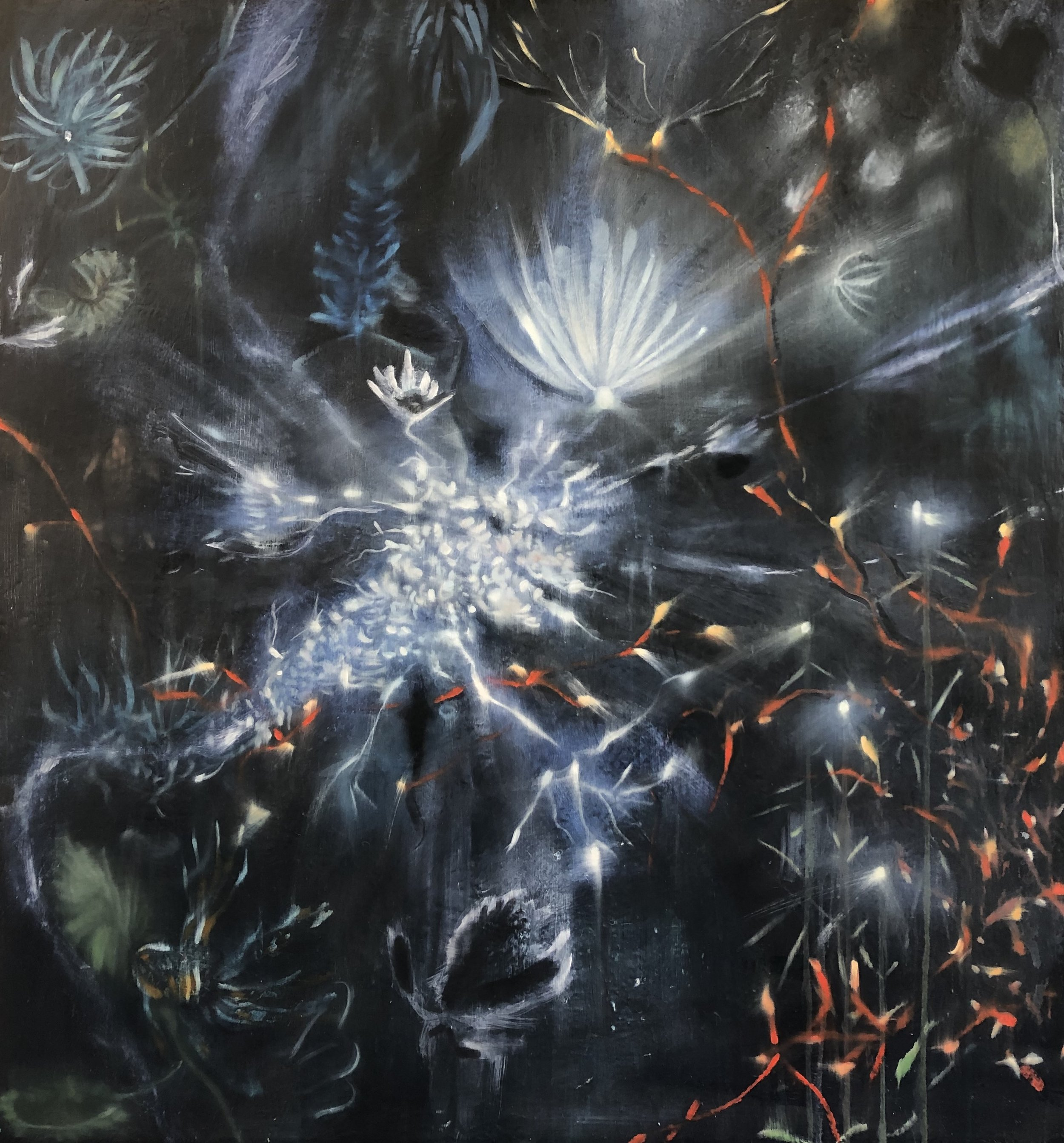 Coral #2 (dark), 150 x 160 CM, Oil on Canvas, 2019