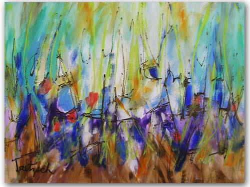 "Contemporary Art Twenty-Six, 24"" x 18"" acrylic on watercolor paper."