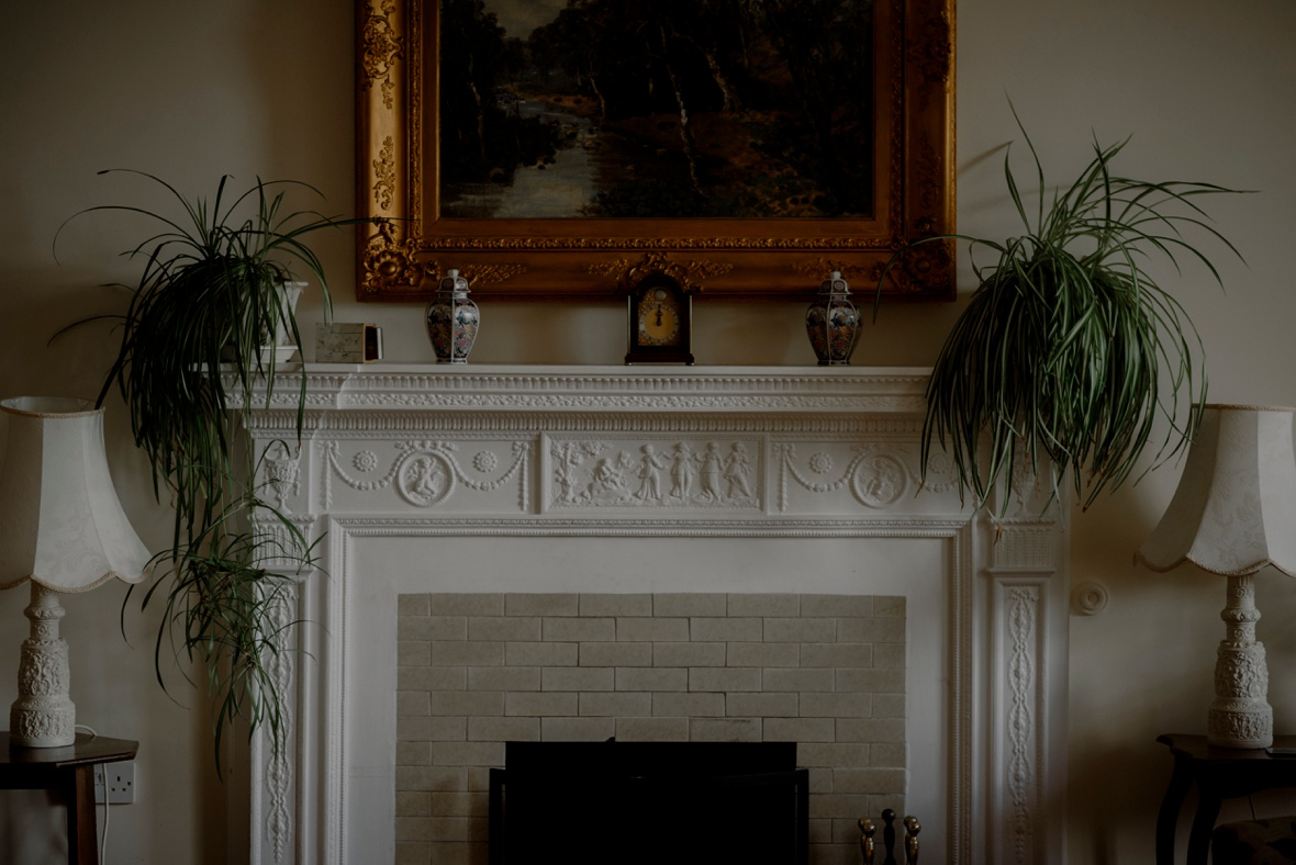 fireplace in cottage