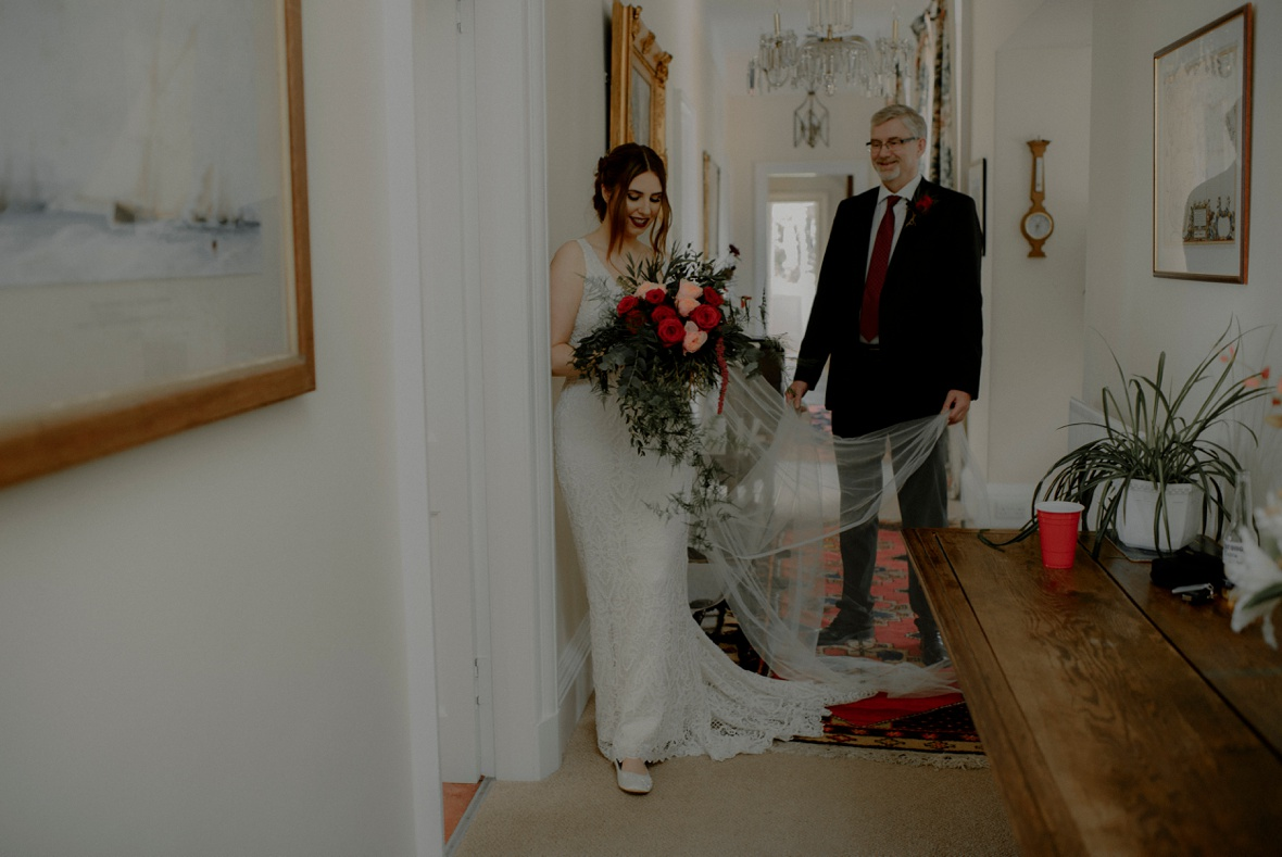 before walking down the aisle