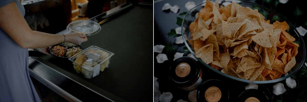 unboxing salads and crisps