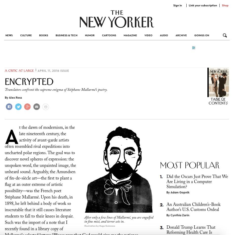 Hugo Guinness The New Yorker