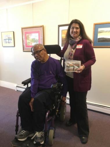 NHAA President Renee Giffroy with One Sky artist Tom Owens