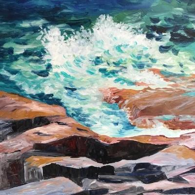 Hot Rocks by Cool Sea by Ann Lynch
