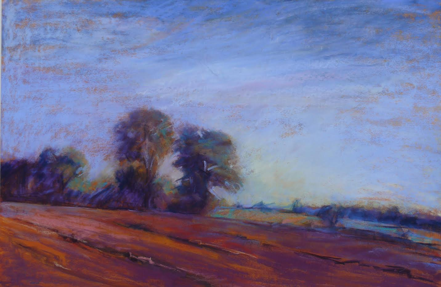 """Freshly Plowed"" pastel painting by Chris Reid"