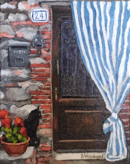 "Debra Woodward's painting ""San Sano"""