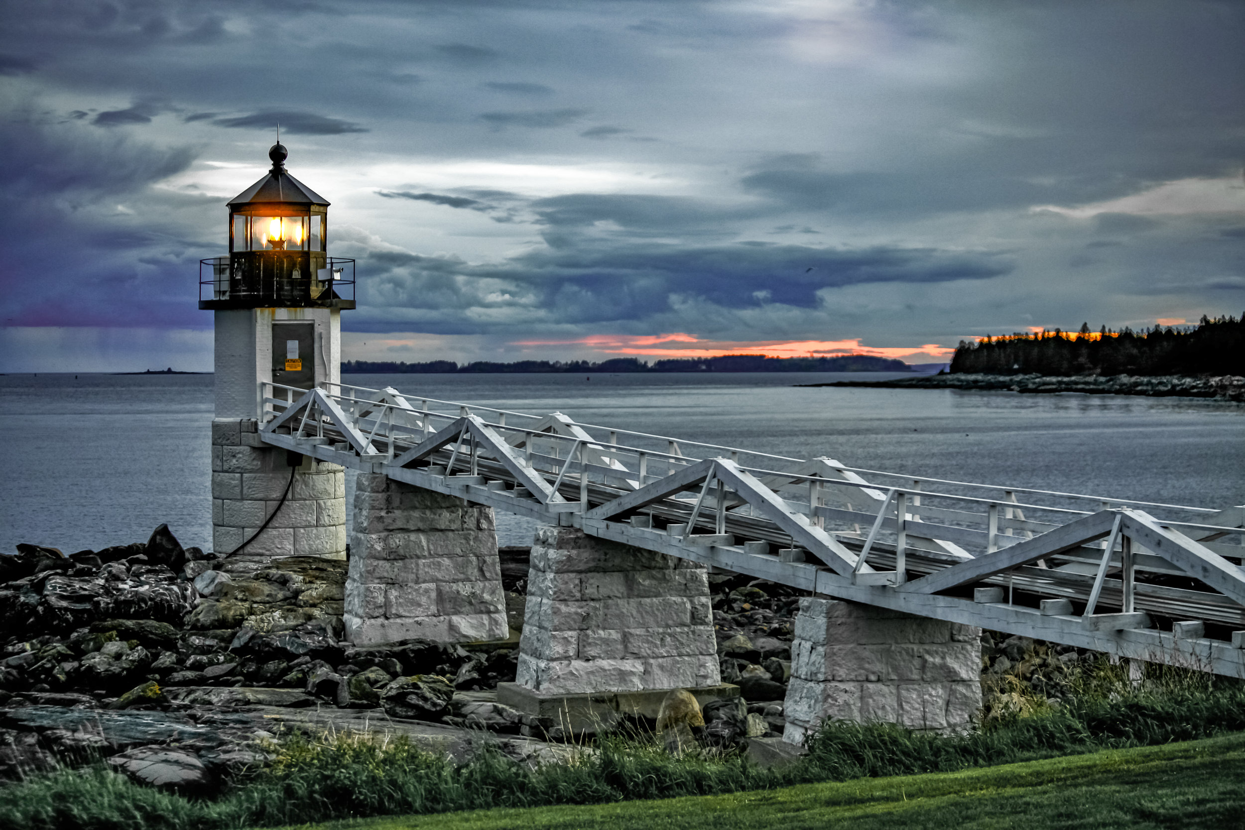 """Marshall Point Lighthouse"" print by photographer Sarah Cail"